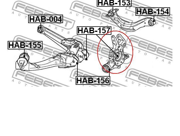 Muñón del eje, suspensión de rueda, trasero derecho para Honda Civic 2008