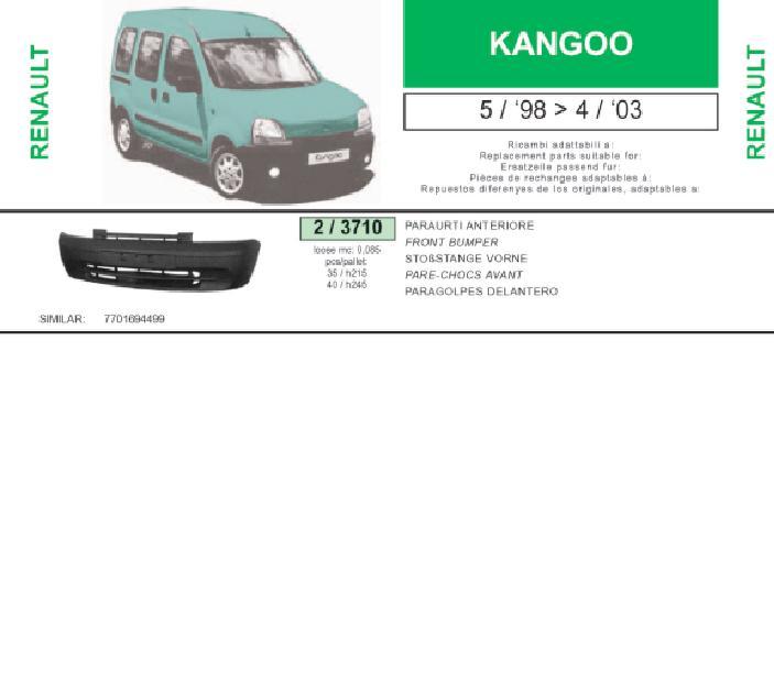 Parachoques delantero para Renault Kangoo 2003