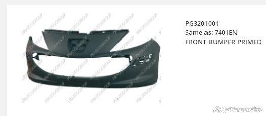 Comprar parachoques delantero para Peugeot 207 2007