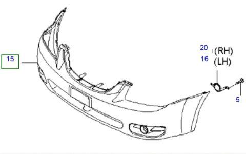 Parachoques delantero para KIA Cerato 2006 año