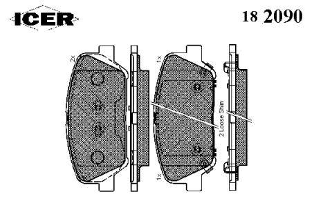 Pastillas de frenos delanteras para Hyundai I30 2016 año