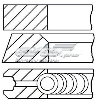 Juego de aros de pistón para 1 cilindro, cota de reparación +0,25 mm para Mercedes Sprinter (907