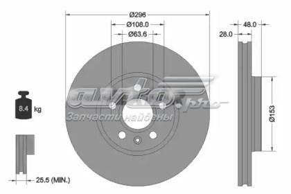 Disco de freno delantero para Volvo S60 2019