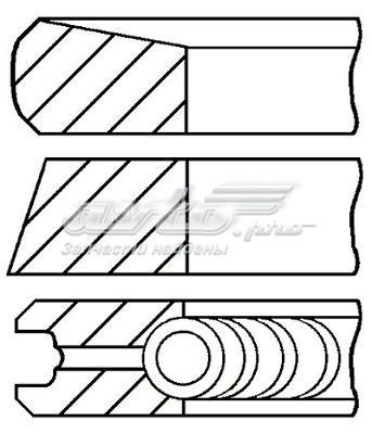 Comprar juego de aros de pistón para 1 cilindro, cota de reparación +0,65 mm para Citroen SpaceTourer 2017